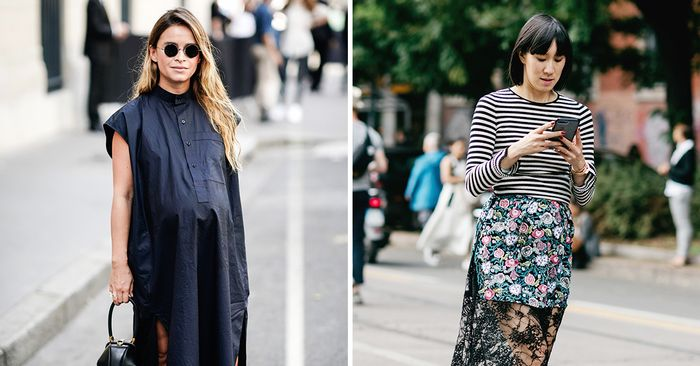 11 Cute Maternity Outfits That Are Street Style Approved Who What Wear