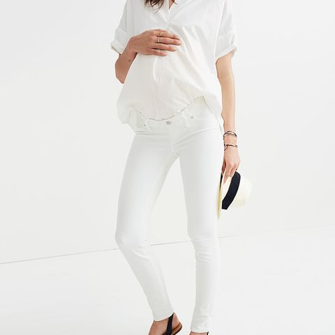 Maternity Skinny Jeans in Pure White