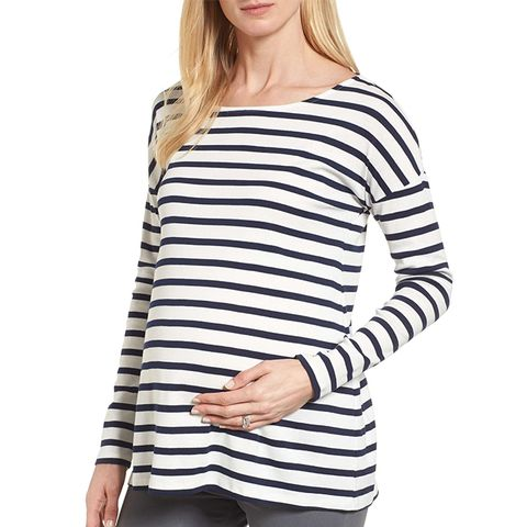Caia Stripe Maternity Top