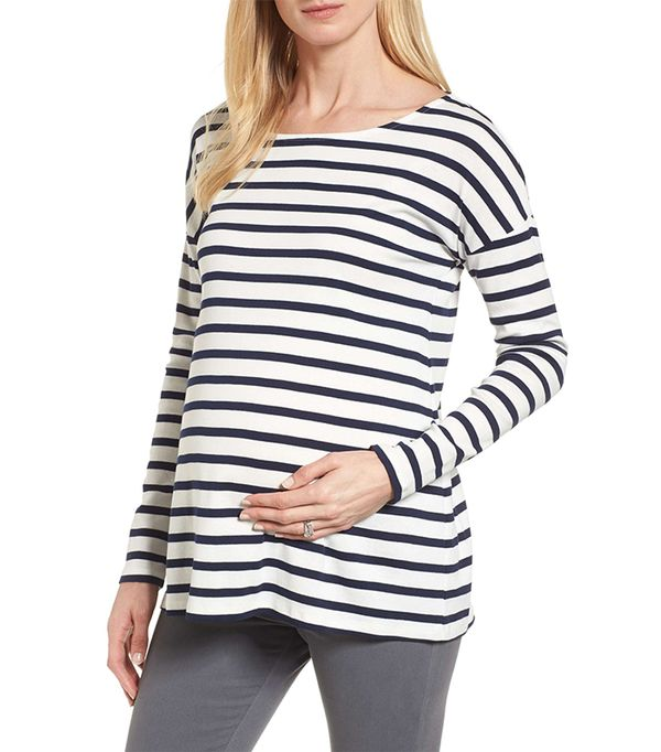 maternity striped top