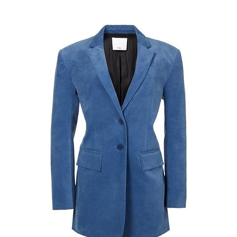 Moleskin Oversized Blazer With Removable Straps