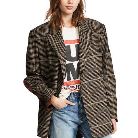 Check Plaid Coat