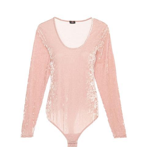 Bisou Texture Velvet Bodysuit