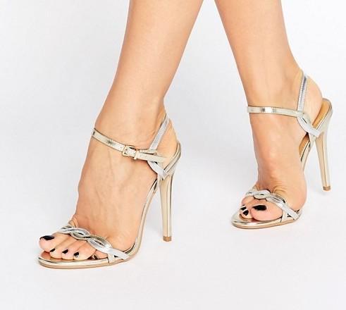 Silver Gold Twist Heels