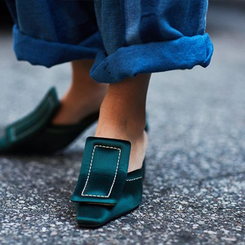 '90s shoe trends: square toes