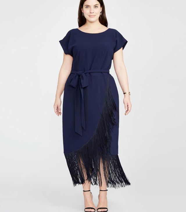 Rachel Rachel Roy Fringe Wrap Midi Dress