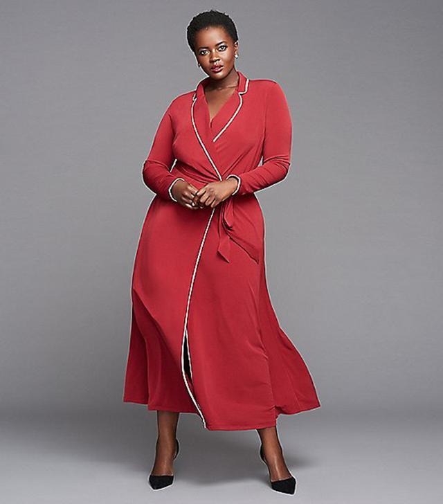 Glamour x Lane Bryant Maxi Robe Dress