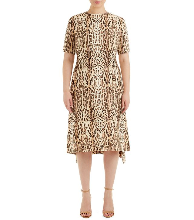 Adam Lippes Ocelot Print Wool Dress