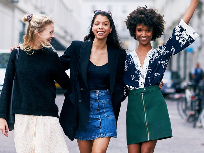 The Denim-Skirt Outfits Fashion Girls Are Wearing This Fall