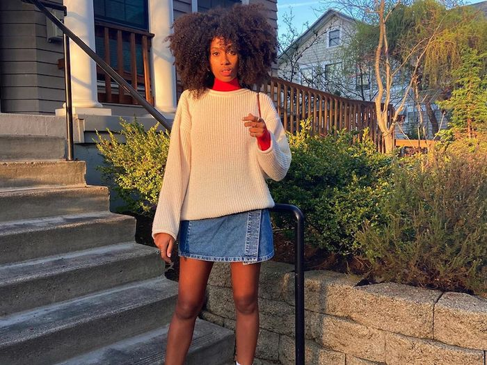 The 8 Denim-Skirt Outfits Fashion Girls Will Wear This Fall
