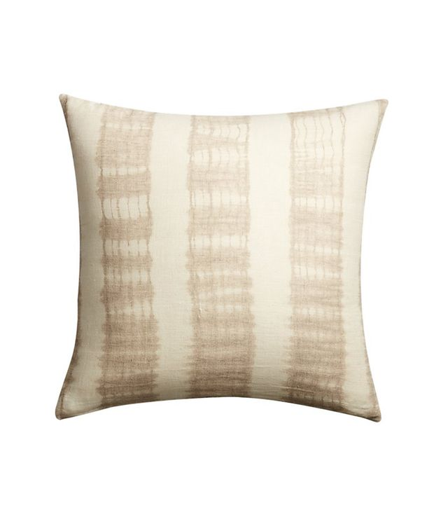CB2 Natural Tie Dye Pillow