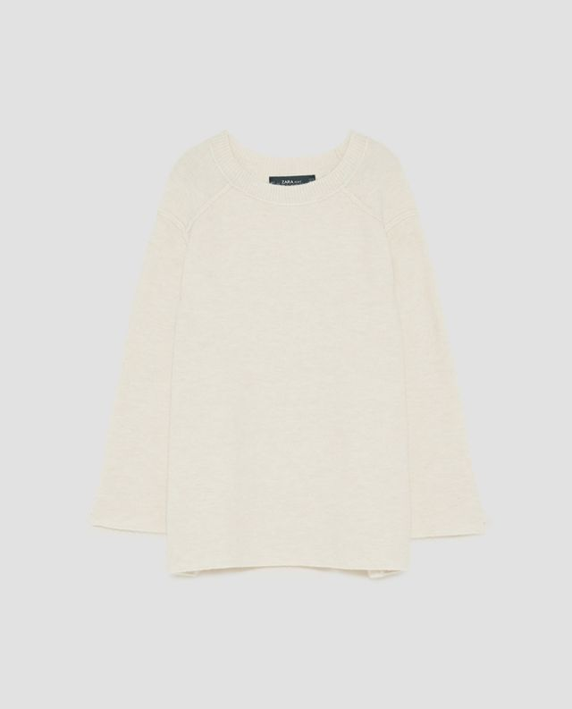 Zara Oversized Sweater with Visible Seams