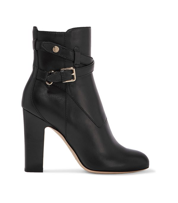 Mitchel 100 Buckled Leather Ankle Boots
