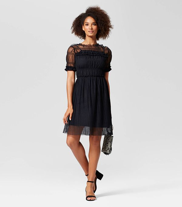 Rouched Mesh Dress