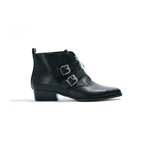 Maddison Double Buckle Zip Front Booties