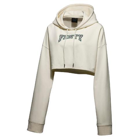 Vanilla Cropped Hooded Sweatshirt