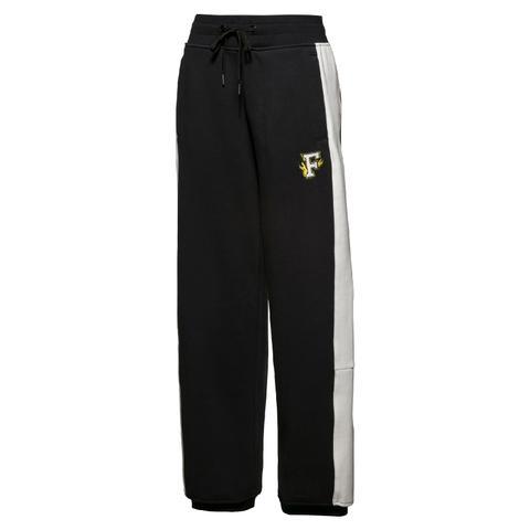 Cotton Black Panel Sweatpants