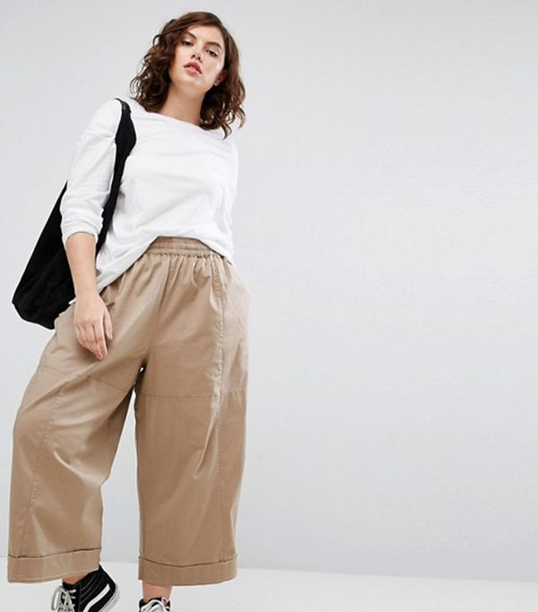 ASOS CURVE Balloon Fit Wide Leg Chino