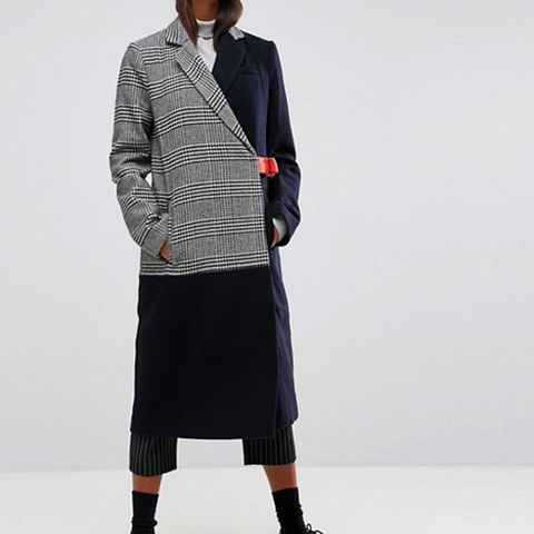 Coat in Cutabout Check With Contrast Belt