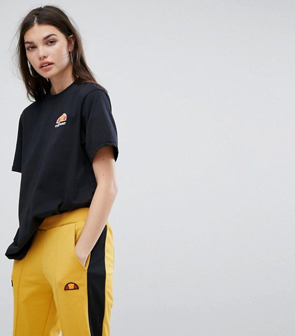 Oversized Boyfriend Tee With Washed Out Logo