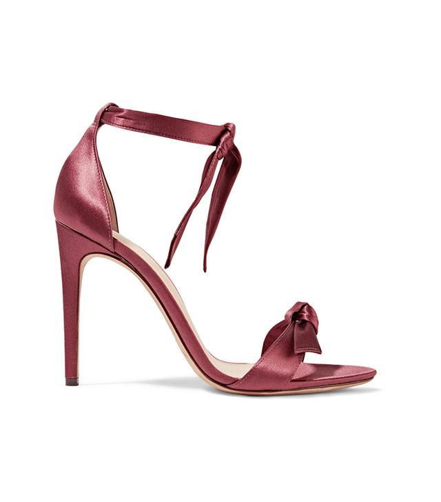 Clarita Bow-embellished Satin Sandals