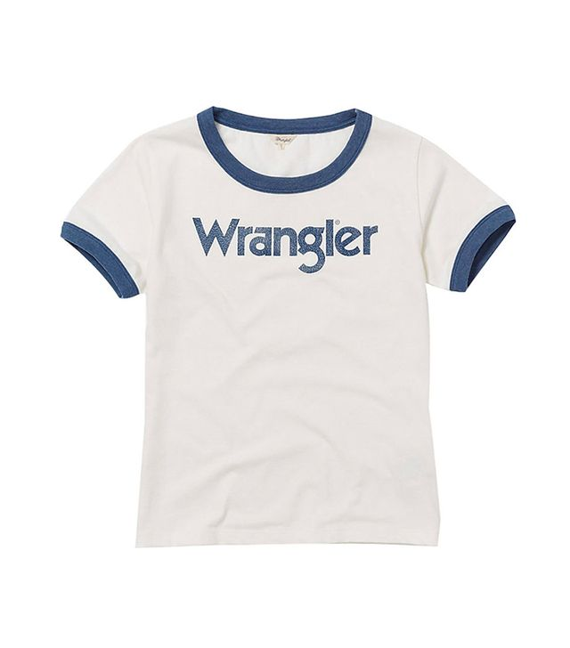 Wrangler 70th Anniversary Retro Label Logo Ringer Tee