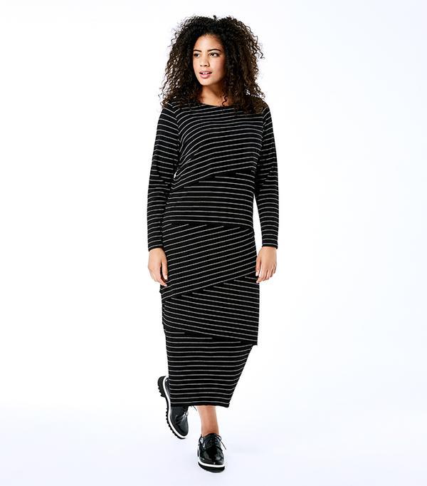 plus size casual maxi dress