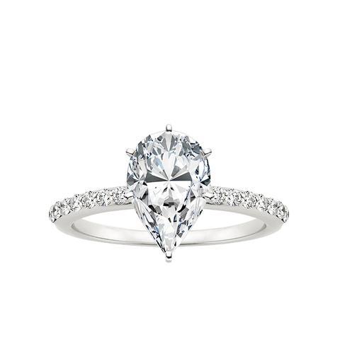 Petite Shared Prong Diamond Ring