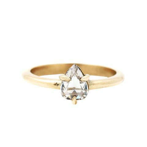 Diamond Teardrop Solitaire Ring