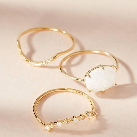 Moonstone Dreamer Ring Set