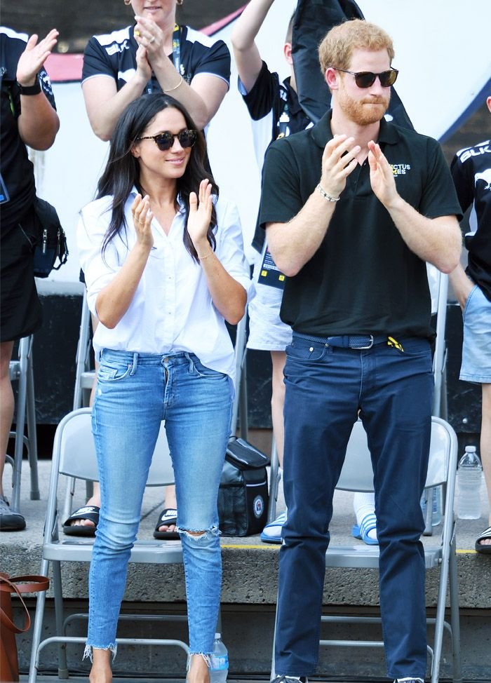 Meghan Markle and Prince Harry: White jeans and jeans