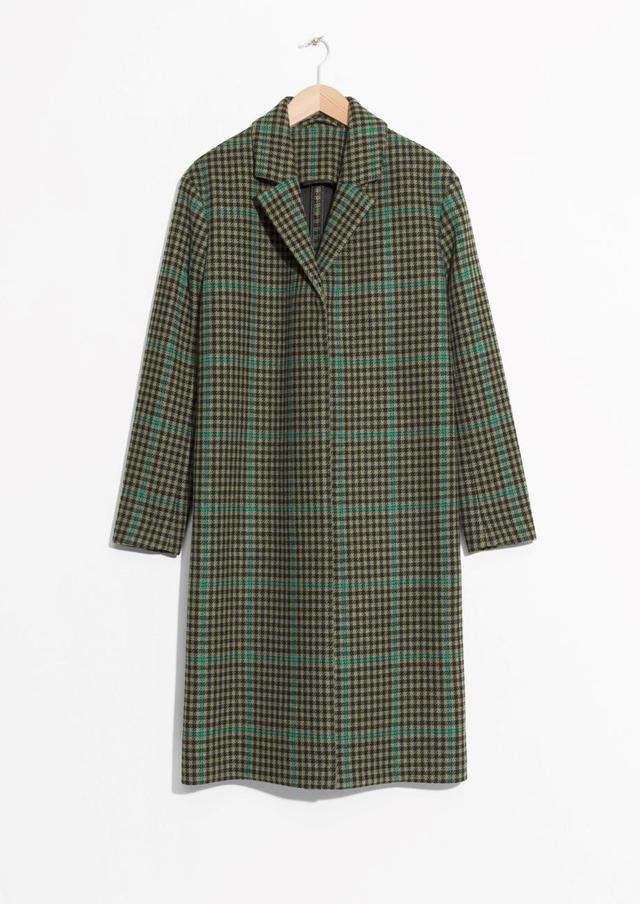 Wool & Mohair Blend Long Coat