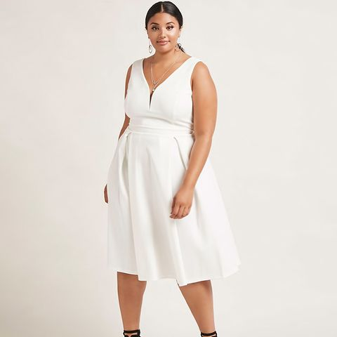 Plus Size Bow Back Dress
