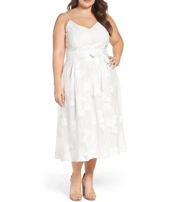 white plus size dresses