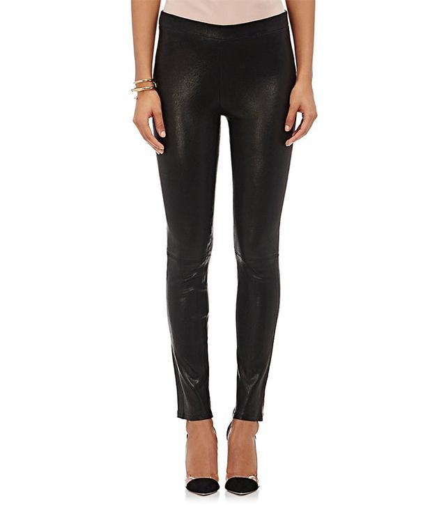 Women's Leather Pull-On Leggings