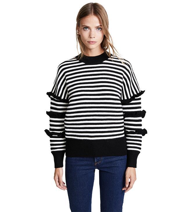 Stripe Ruffle Sweater