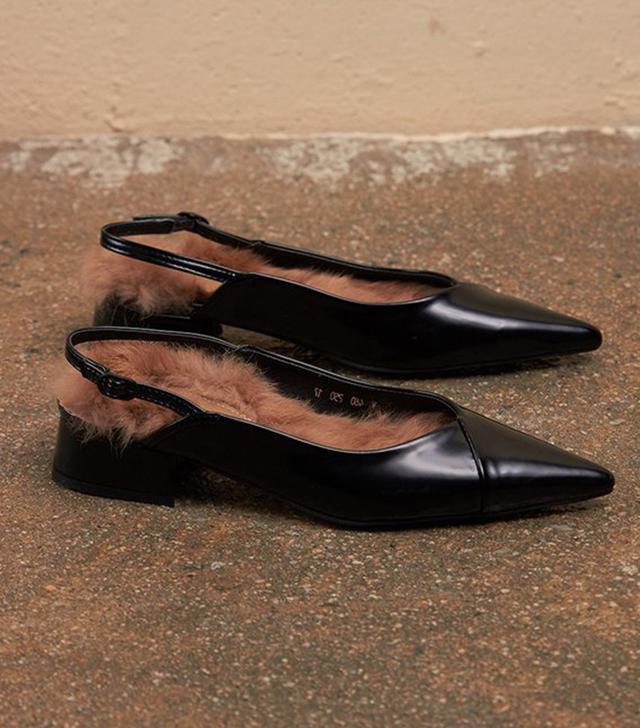 Loeil Daphne Fur Flat