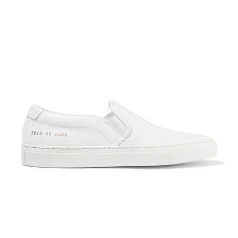 Leather Slip-on Sneakers