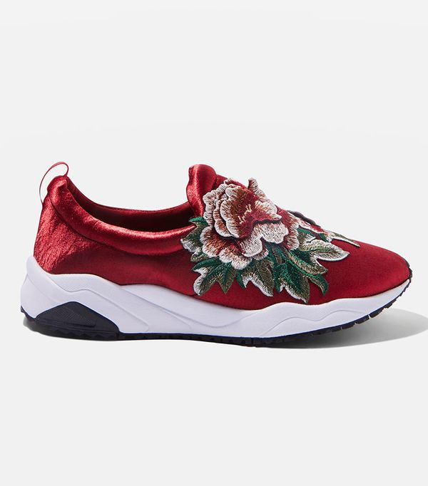 TIARA Floral Embroidered Trainers
