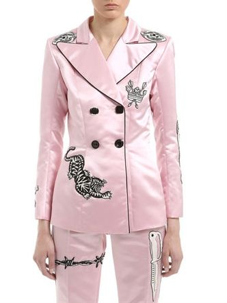 Dilara Findikoglu Mick Jagger Embellished Satin Jacket