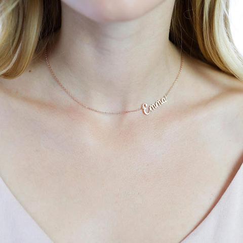 Sideways Name Necklace