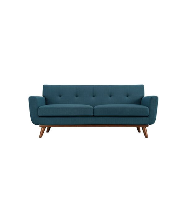 Engage Upholstered Loveseat in Azure