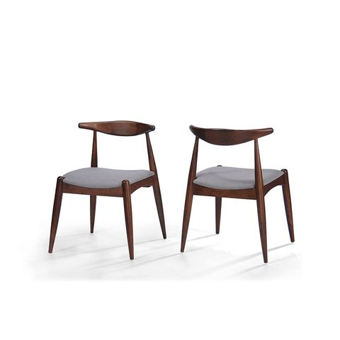 Mid Century Modern Dining Chairs (Set of 2)