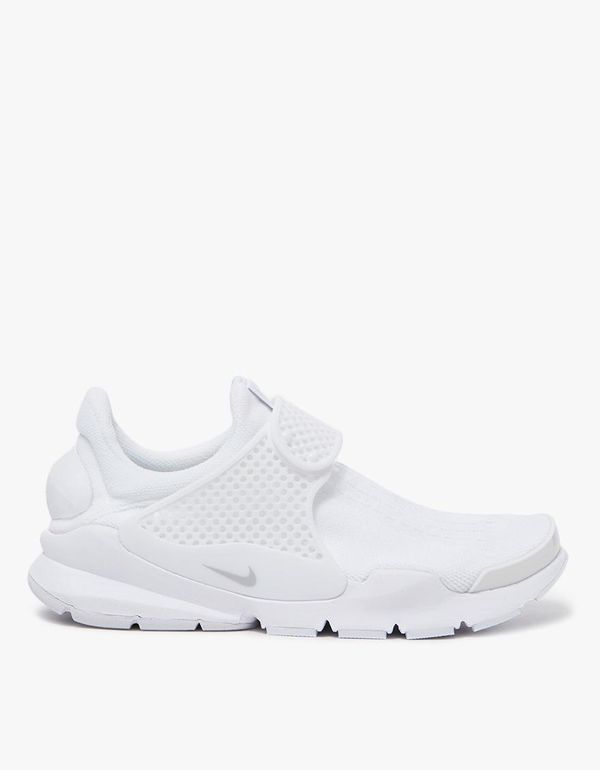 Sock Dart Shoe in White/Pure Platinum