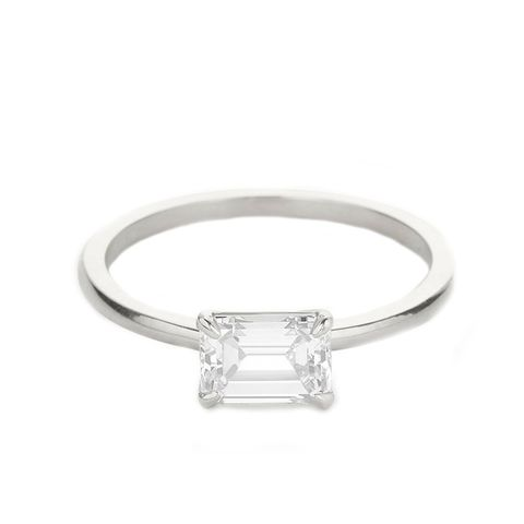 9 simple engagement rings for the minimalistic bride mydomaine the emerald junglespirit Image collections