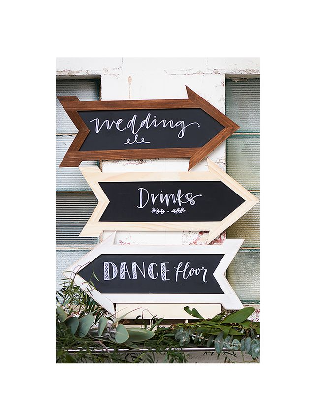 Typo Chalk Board Signs