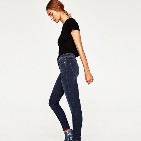 Skinny Jeans in Dark Blue