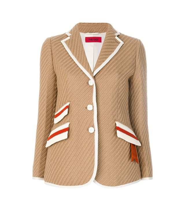 The Gigi Contrast Piping Blazer