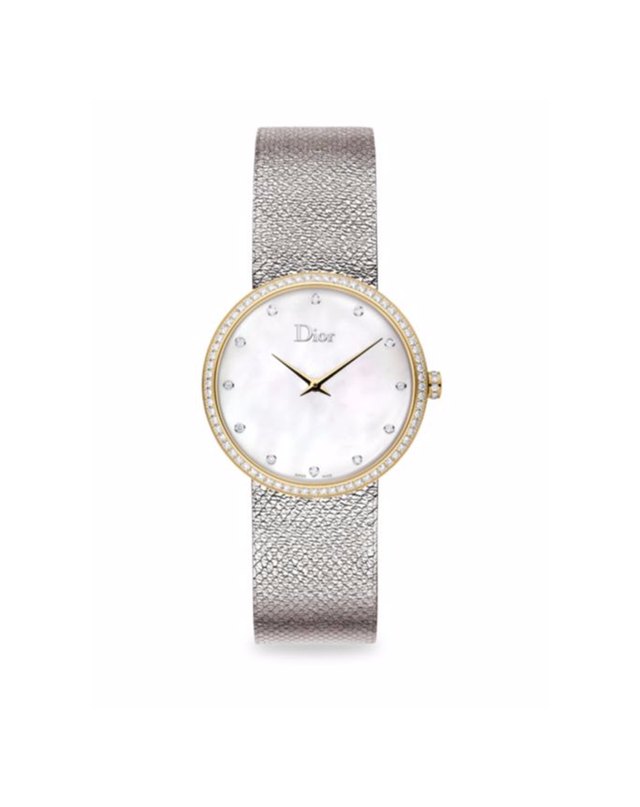 Dior La D de Dior Diamond, Mother-Of-Pearl & Stainless Steel Watch