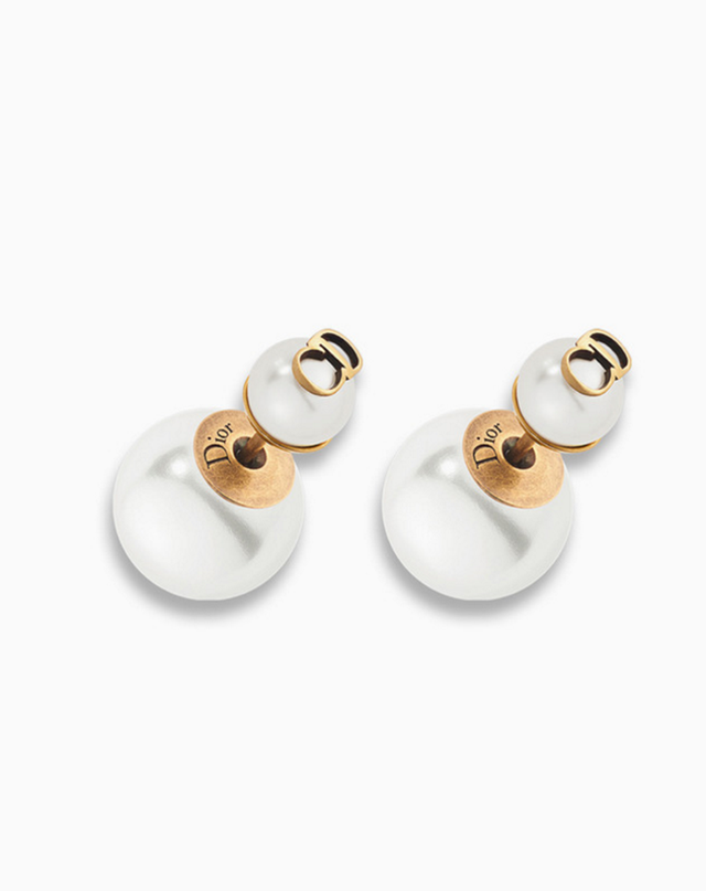 Dior Tribales Earrings in Aged Gold-Tone Metal (Available in Store)